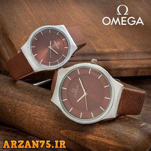 خرید ست ساعت زوجی Omega قهوه ای