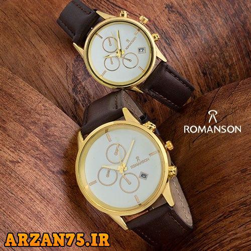 ست ساعت زوجی Romanson قهوه ای,ست جدید ساعت مردانه و زنانه,مدل جدید ست ساعت مردانه و زنانه
