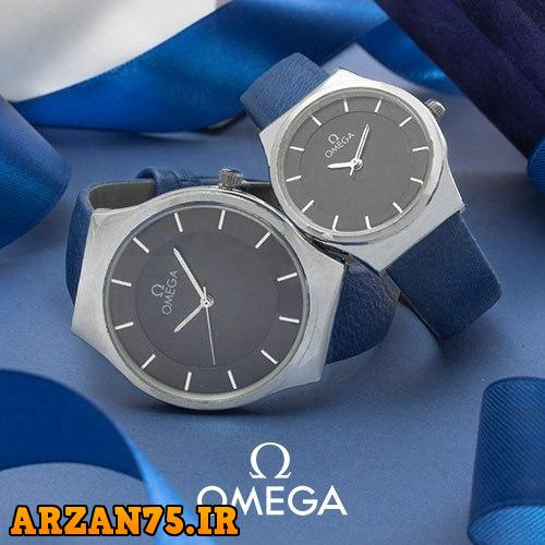 خرید ست ساعت زوجی مدل Omega رنگ آبی