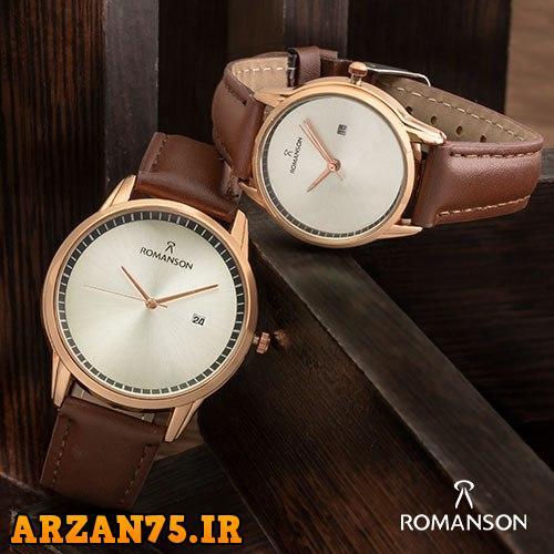 خرید ست ساعت زوجی Romanson قهوه ای برنزی