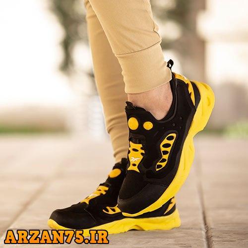 کفش مردانه مدل Reebok مشکی زرد,مدل جدید کفش مردانه مشکی زرد,کفش جدید مردانه مشکی زرد,کفش مردانه مدل ریبوک