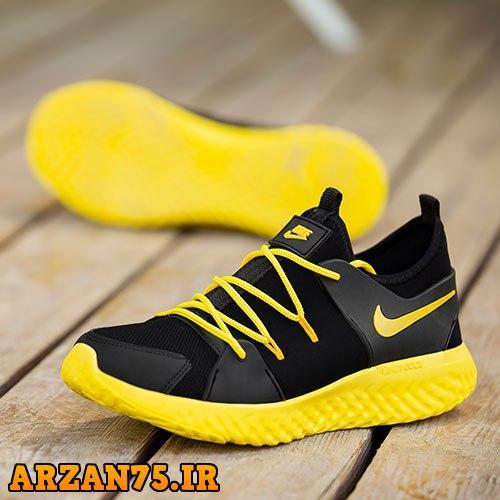 کفش جدید مردانه مدل Nike مشکی زرد,مدل جدید کفش مردانه,سری جدید کفش مردانه