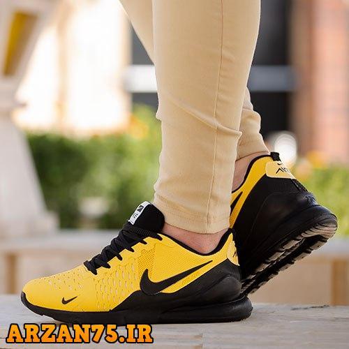 کفش مردانه مدل Nike مشکی زرد,مدل جدید کفش مردانه زرد مشکی,مدل جدید کفش مردانه