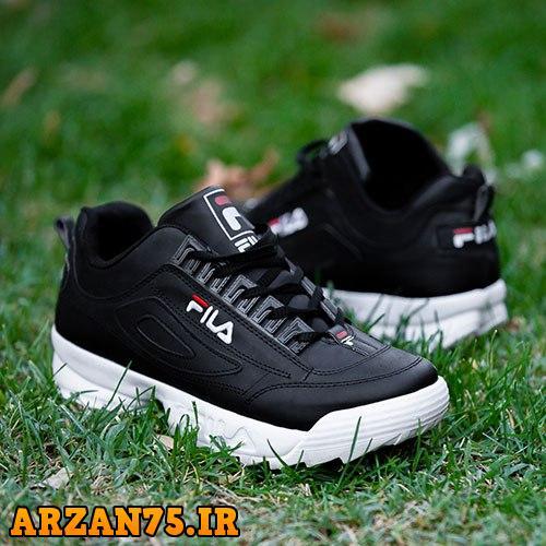 کفش مردانه مدل Fila مشکی سفید,مدل جدید کفش مردانه,کفش جدید مردانه برند فیلا