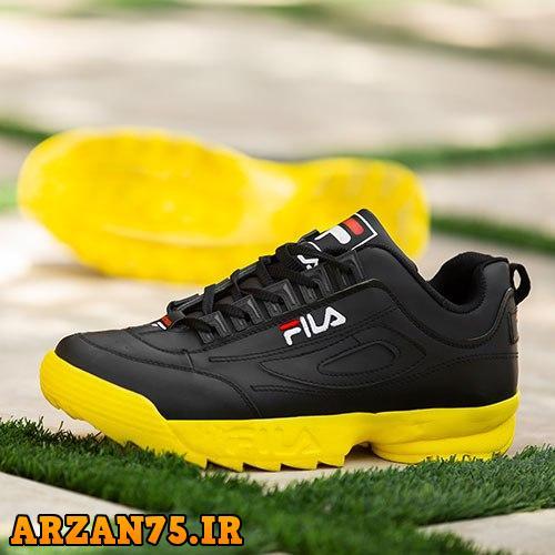 کفش مردانه مدل Fila مشکی زرد,مدل جدید کفش مردانه,کفش مردانه ارزان