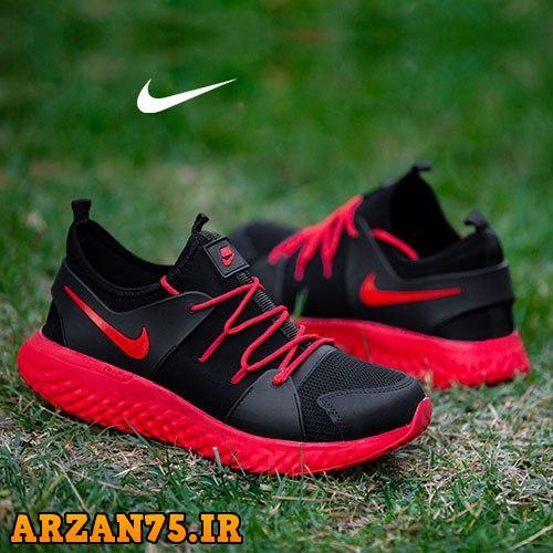 کفش مردانه مدل Nike مشکی قرمز,مدل جدید کفش مردانه قرمز مشکی,مدل جدید کفش مردانه