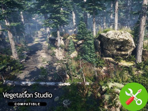 پکیج محیط یونیتی Mountain Trees - Dynamic Nature