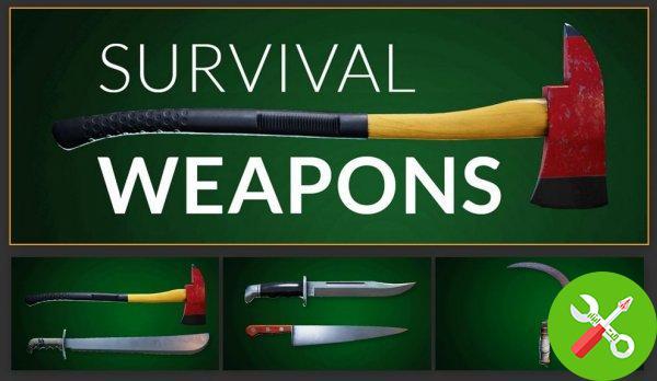 پکیج یونیتی Survival Weapons