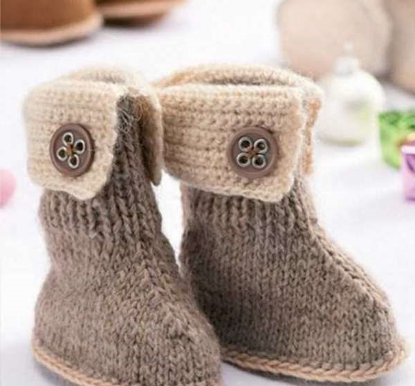 کفش بافتنی نوزادی پسرانه