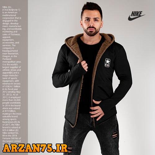 شنل جدید خزدار مردانه مدل Nike,شنل خزدار رمدانه مدل نایک,شنل خزدار مردانه