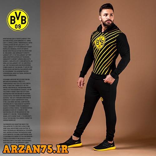 ست سوییشرت و شلوار مردانه Dortmund,مدل جدید لباس ورزشی تیم دورتموند,ست ورزشی تیم ورزشی دورتموند