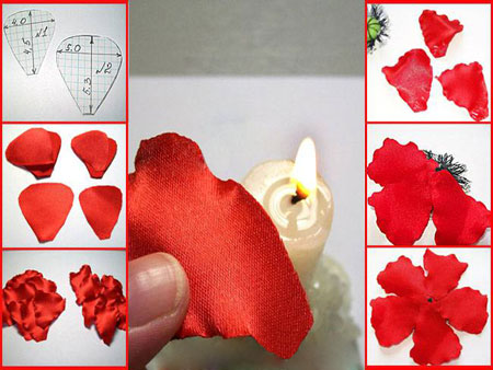 ساخت گل شقایق با پارچه, درست کردن گل های پارچه ای
