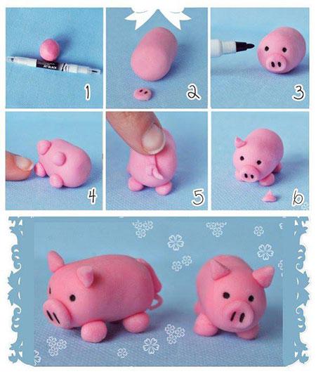نحوه ساخت عروسک خمیری,آموزش ساخت عروسک خمیری