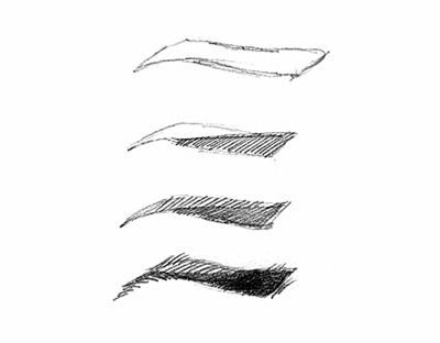 آموزش طراحی چهره, آموزش طراحی چهره با مداد سیاه