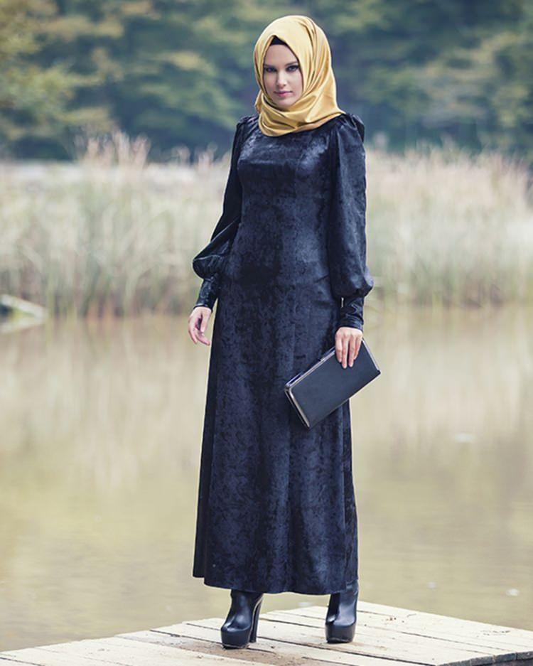 مدل لباس مجلسی بلند مخمل6