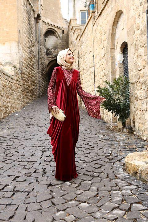 مدل لباس مجلسی بلند مخمل3
