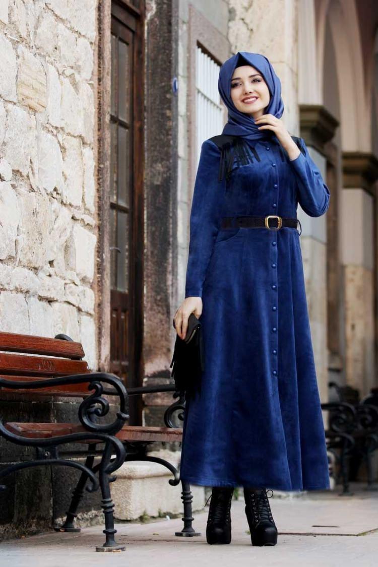 مدل لباس مجلسی بلند مخمل13