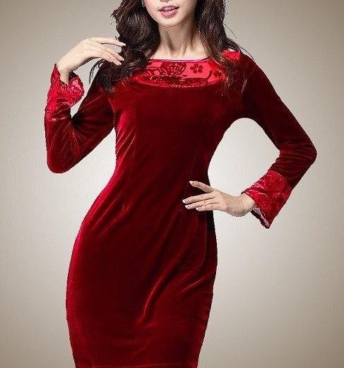 مدل لباس مجلسی کوتاه با پارچه مخمل