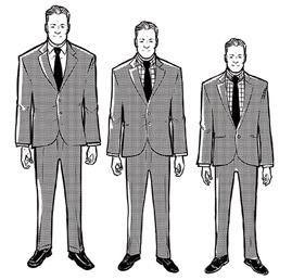 کت باید مناسب با قد و قواره شما دوخته شود.