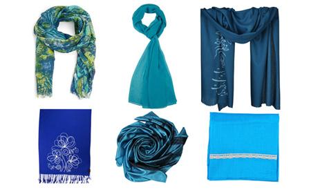 راهنمای انتخاب رنگ شال و روسری,اصول و شیوه انتخاب شال و روسری