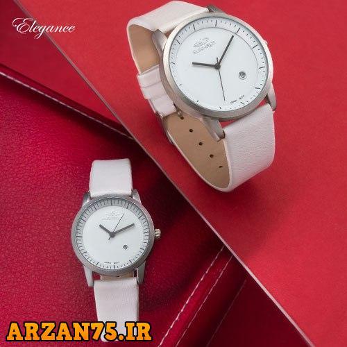 ست ساعت زوجی  Elegance رنگ سفید,ست ساعت مردانه و زنانه,ست ساعت مردانه و زنانه سفید رنگ