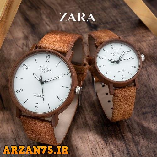 خرید ست ساعت زوجی مدل  Zara قهوه ای