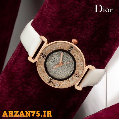 ساعت مچی زنانه مدل Dior سفید رنگ,ساعت مچی زنانه,ساعت مچی دخترانه,ساعت مچی