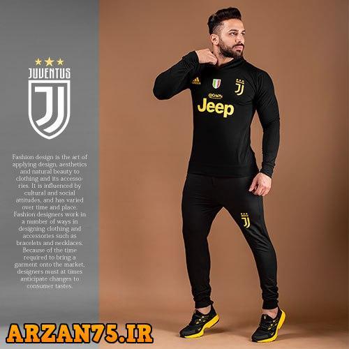 ست سویشرت و شلوار مدل Juventus,مدل جدید لباس ورزشی تیم یوونتوس,لباس و شلوار گرم باشگاه یوونتوس