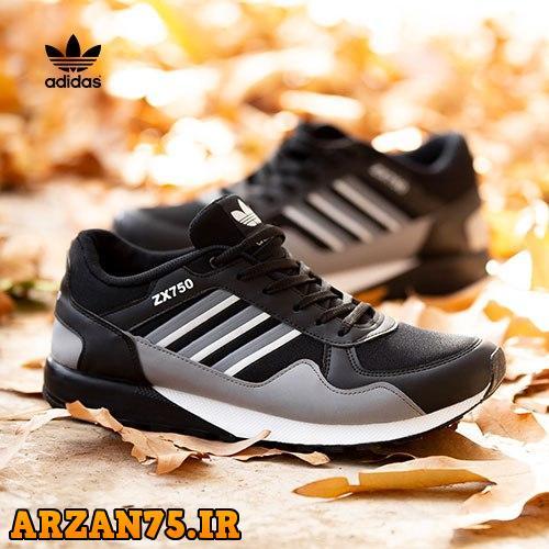 کفش مردانه Adidas طوسی مشکی,کفش مردانه آدیداس,کفش زیبای مردانه