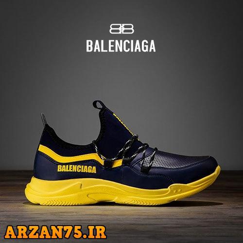 کفش مردانه Balenciaga مشکی زرد,کفش مردانه مشکی زرد,کتونی مردانه