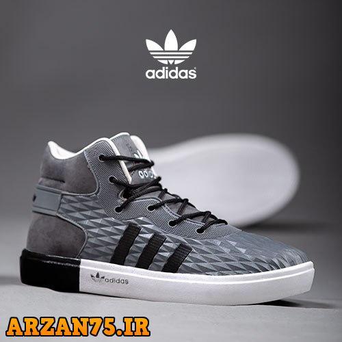 کفش ساقدار مردانه Adidas رنگ خاکستری