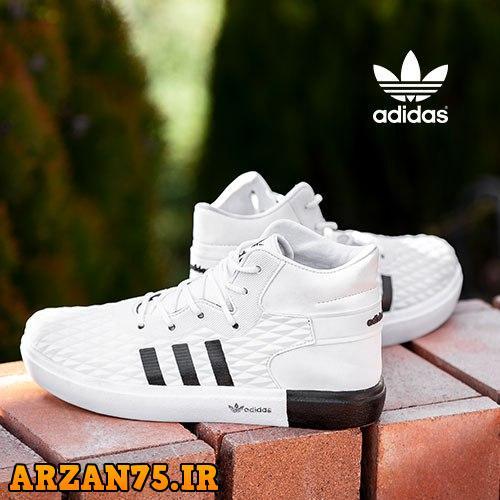 کفش ساقدار مردانه Adidas سفید,کفش مردان هسفید رنگ,کفش ساقدار مردانه,کفش مردانه