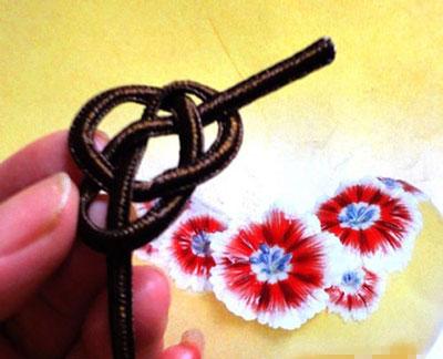 آموزش گل با قیطون, آموزش ساخت گل با قیطون