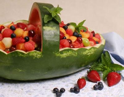 تزیین هندوانه شب یلدا,میوه آرایی شب چله