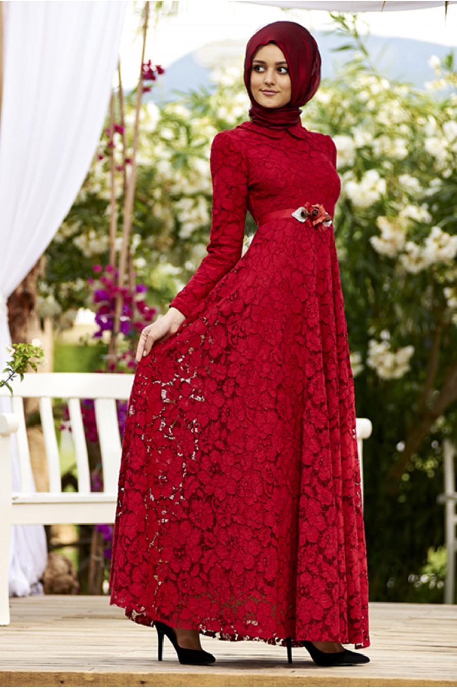 مدل لباس مجلسی با گیپور جدید