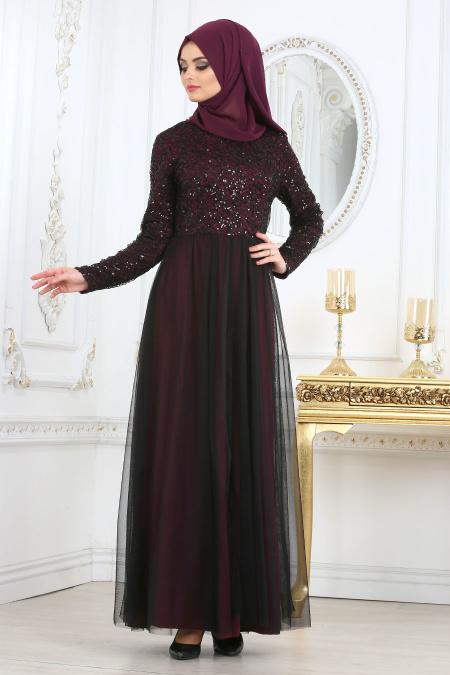 مدل لباس مجلسی با گیپور