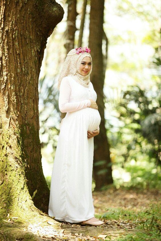 مدل لباس مجلسی بارداری بلند