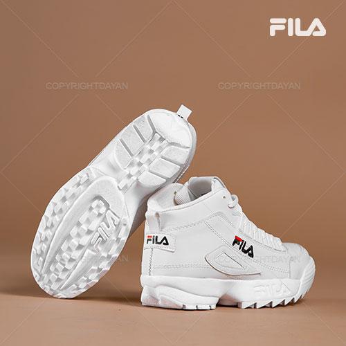 فروش کفش ساقدار زنانه Fila مدل F1309 قرمز و سفید