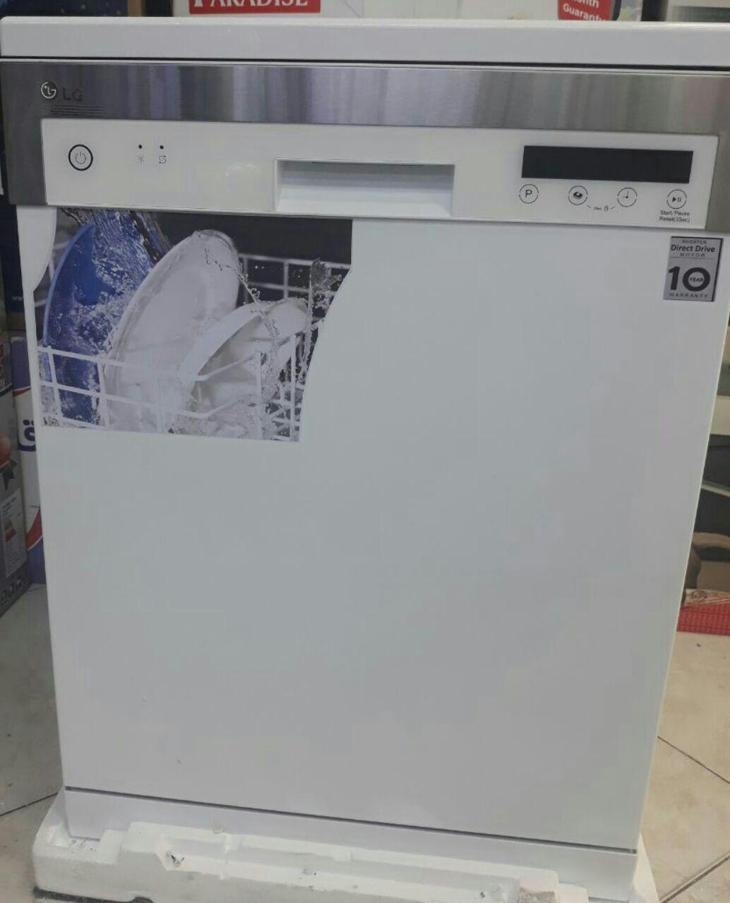 ماشین ظرفشویی 14 نفره الجی نمایشگر و تنظیم لمسی دیجیتال با برنامه متنوع شستشو