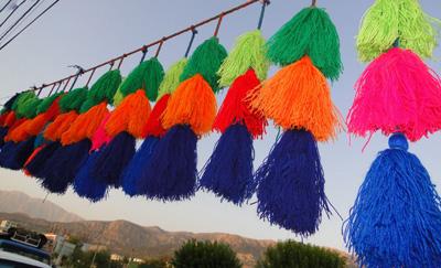 تزیین سیاه چادر , بافتنی های تزئینی
