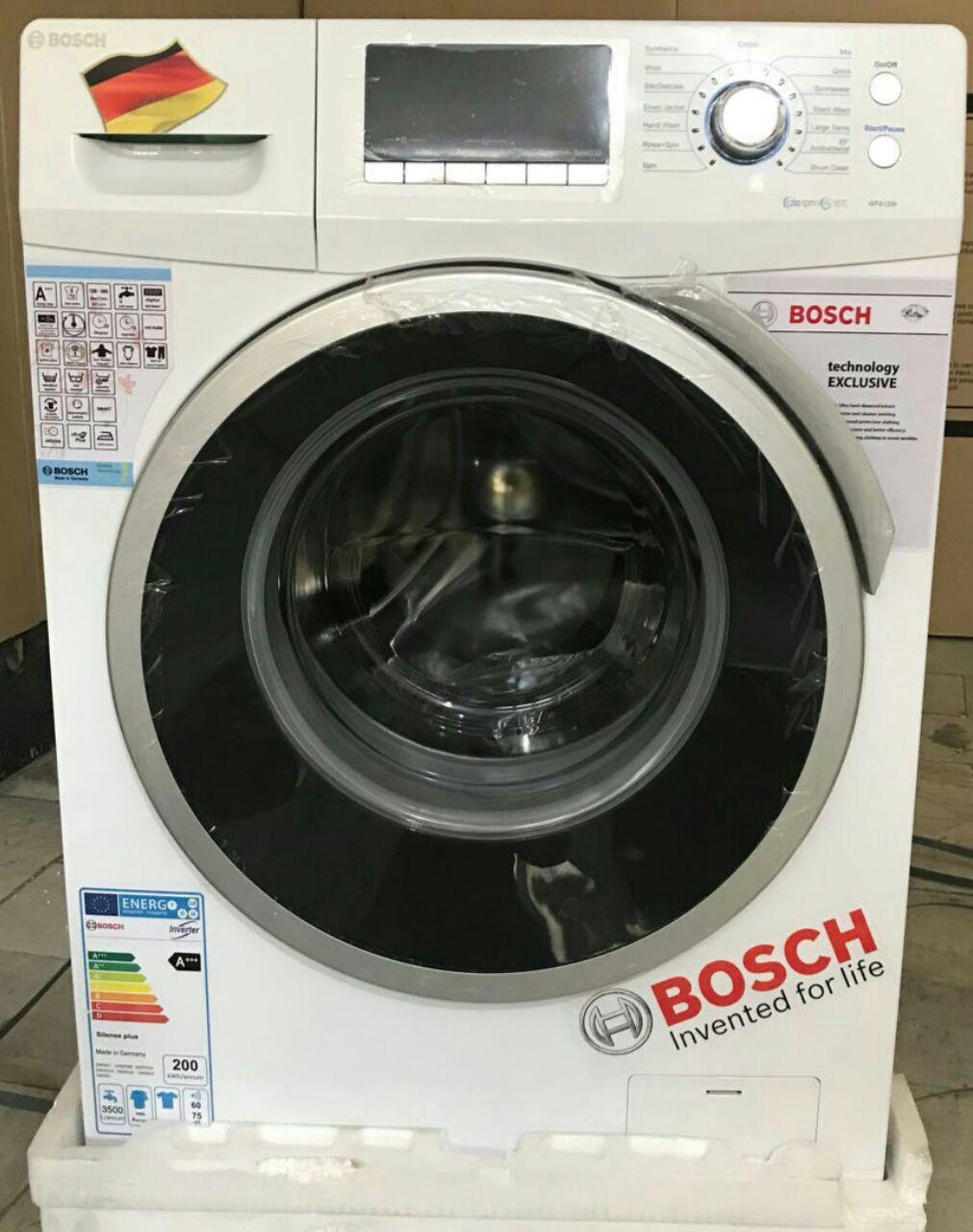 ماشین لباسشویی بوش درب بزرگ نمایشگر تنظیم دیجیتال 14 برنامه شستشو موتور دیجیتال