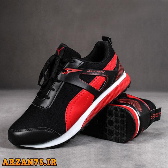 کفش مردانه برند پوما رنگ قرمز,مدل جدید کفش مردانه,کفش مردانه پوما,کتونی مردانه