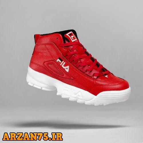 کفش ساقدار زنانه Fila رنگ قرمز سفید,مدل جدید کفش زنانه,کفش دخترانه فیلا,کفش دخترانه اورجینال,کفش اسپرت زنانه