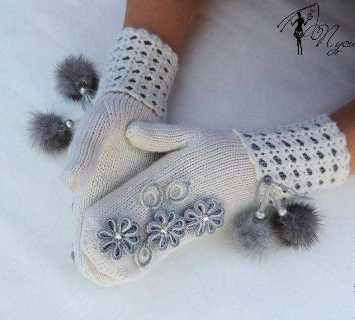مدل دستکش بافتنی دخترانه جدید
