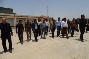 بازدید مدیر کل ورزش و جوانان استان فارس از پروژه های ورزشی شهرستان لامرد