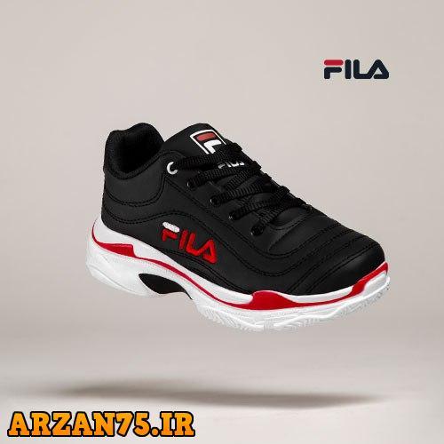 کفش زنانه Fila  مشکی قرمز,کفش جدید زنانه,کفش زنانه برند فیلا,کفش جدید دخترانه