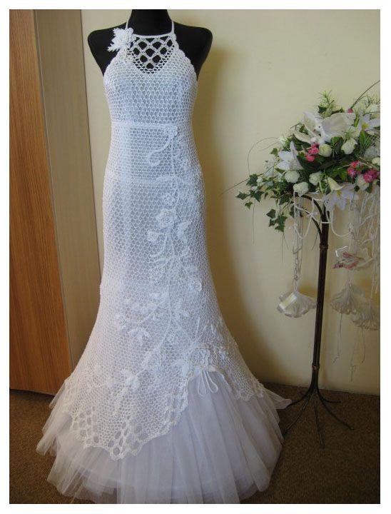 مدل بافتنی لباس عروس2