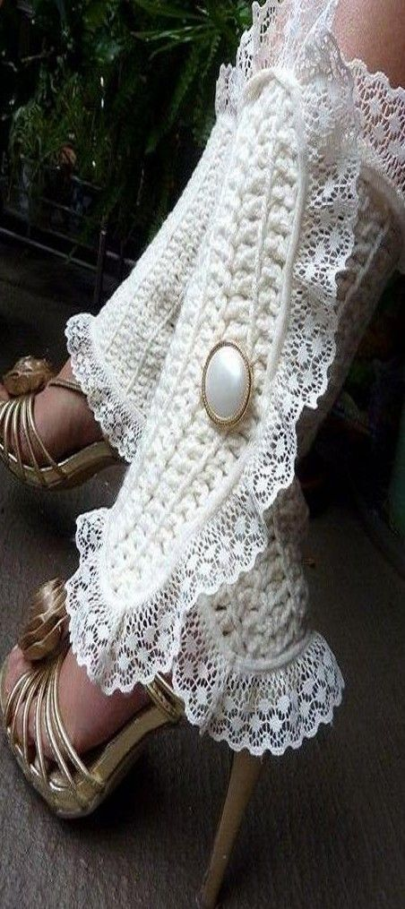 مدل پاپوش بافتنی عروس 5