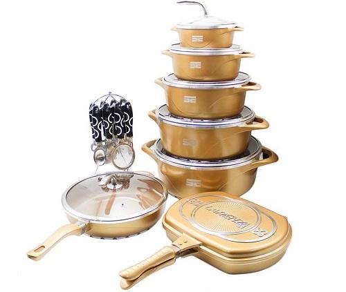 فروش سرویس پخت و پز سرامیکی 23 پارچه لارنزا مدل Golden
