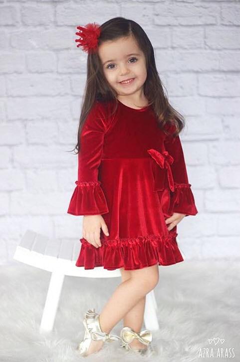 مدل لباس دخترانه بچه گانه برای شب یلدا